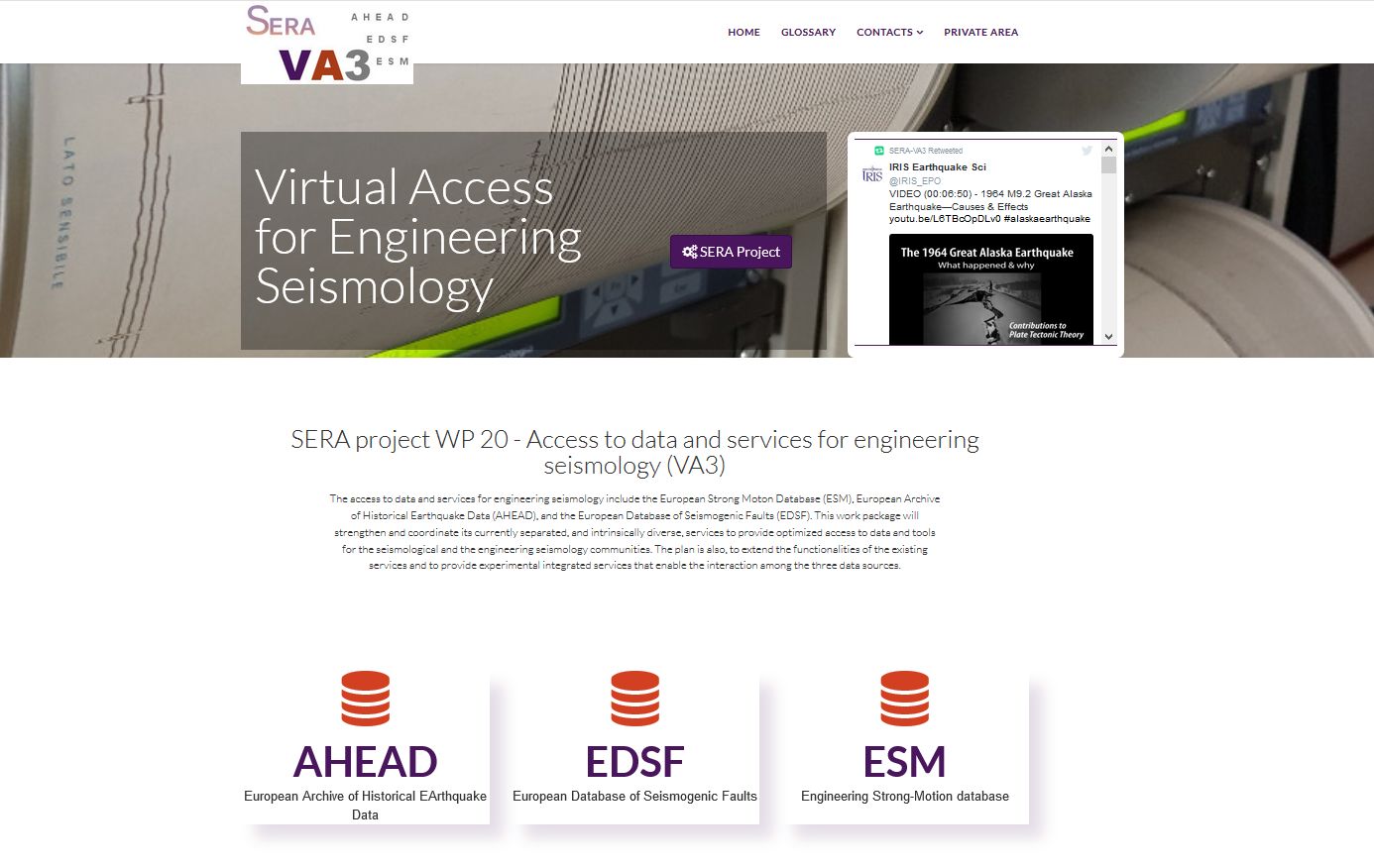 Data and services for engineering seismology portal online